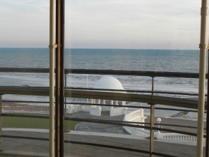 View out of the window from the De La Warr Pavillion