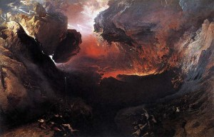 The End of the World, by John Martin shows the world being destroyed by God