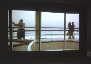 couples dance on the balcony of the De la Warr Pavilion