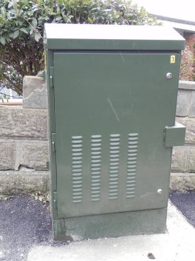 A green BT junction box