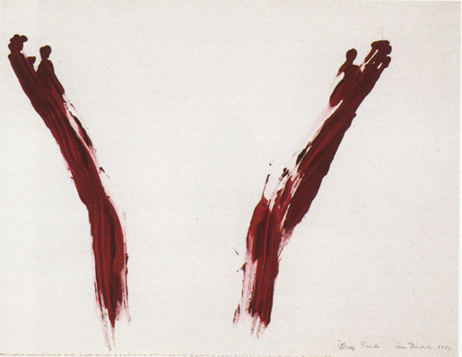 Ana_Mendieta,_Body_Tracks_(Rastros_Corporales),_1982,_blood_and_t