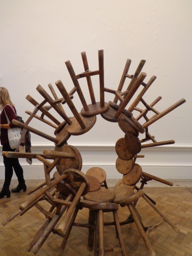 Ai Weiwei sculpture showing linked stools