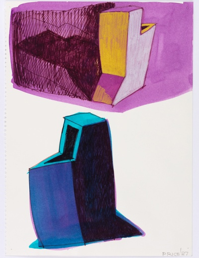 Ken Price (1935 - 2012) (Blue Object Purple) 1987 Watercolour, c